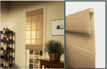 Photograph Of Roman Fold Roller Style By Horizons Shades Elegance